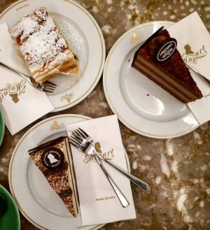 Café Mozart since 1794 in Vienna...Tarta Mozart since 2019 in my heart! . . . . ....