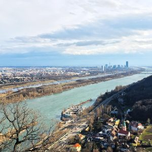 Immer wieder ein Hingucker: die Donau in der Sonne vom Leopoldsberg aus. ☀️️Wir wünschen einen guten Start...