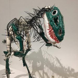 Nanotyrannus #dinosaur made from #plastic #foundobjects by Julia Krause-Harder in the #exhibition #flyinghigh #womeninartbrut at @kunstforumwien #vienna...