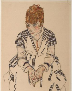    stripes    • • • • In 1914, Schiele glimpsed the sisters Edith and Adéle Harms,...
