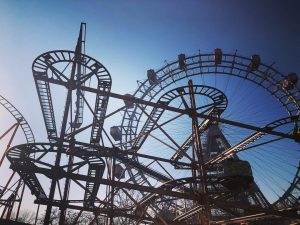 #prater #architecture #architecturephotography #rollercoaster #steel #structure #rise #Riesenrad #vienna