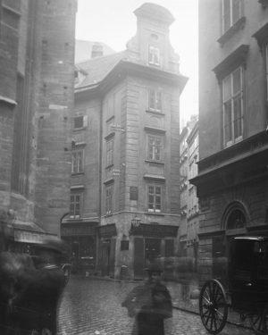 Auffällig beim Palais Obizzi ist seine einachsige Fassade zur Steindlgasse. Das Gebäude kam ...