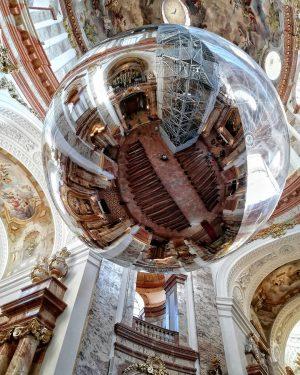 Awesome reflective spheres inside Karlskirche. . . . . #wien #city #Vienna #vienna_austria #viennagoforit #igersvienna #igersaustria #onlinevienna...