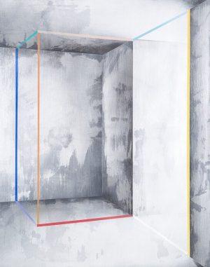 IRA SVOBODOVÀ Framing Space 9, 2018 Acrylic on canvas 80 x 100 x 4 cm 🍍 Äpfel...