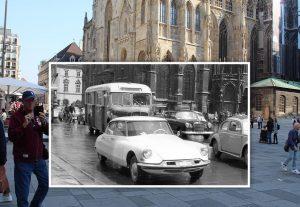 Immer wieder unglaublich, wie der Stephansplatz früher ausgesehen hat! Wo sich heute Touristen ...