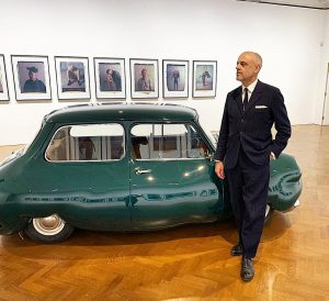 Dr. Gerald Matt at the opening of #ErwinWurm exhibition NEW WORKS at @thaddaeusropac ...