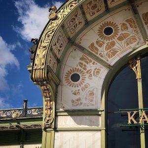 Karlsplatz Stadtbahn Station [1898]-Otto Wagner- • • • #viennascene #vienna_city #vienna #vienna_austria #viennablogger ...