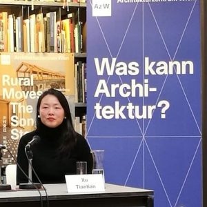 Xu Tiantian presenting the success of the Songyang Story Az W Architekturzentrum Wien #ruralmoves_azw #songyangstory_azw #bestofvienna #Vienna...