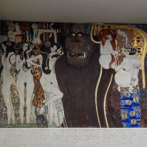 Beethoven frieze by Gustav klimt at the Secession #secession #gustavklimt #vienna2019 #vienna #wien🇦🇹 ...