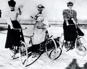 """""""I think the bicycle has done more to emancipate women than any one thing in the world...."""