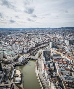 Vienna from above😍 Would you choose to swim like a fish or fly ...