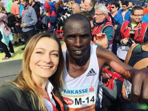 With the winner of the Vienna City Marathon - #vincentkipchumba #kenya #kenyarunning #viennacitymarathon ...