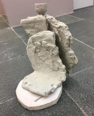"1: Agnieszka Baginska s sculpture ""Vom Anfang kein Ende"" at the opening of ..."