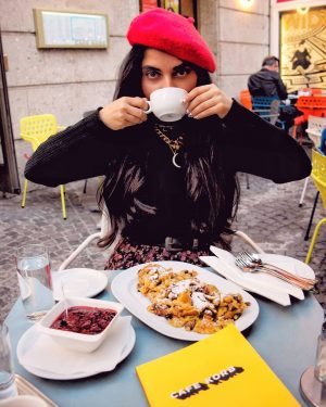 Taking my Melange and Kaiserschmarrn very seriously ☕☕ Melange is the Viennese coffee, ...