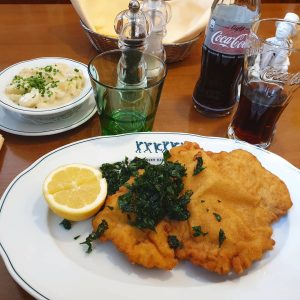 When in Austria one has to have schnitzel #schnitzel #austria #holiday #solotravel #interrail