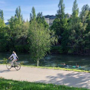 Am Donaukanal 😊🚲🌳 #wienzufuss #igersvienna #fahrradwien #wienliebe Vienna