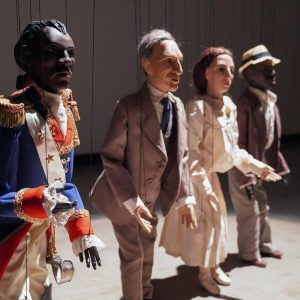 """Inspired by traditional forms of puppet theatre """"The Dramatist (Black Hamlet, Crazy Henry, ..."""