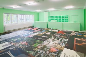 Martine Syms has created an immersive installation comprised of a sculptural intervention, a ...