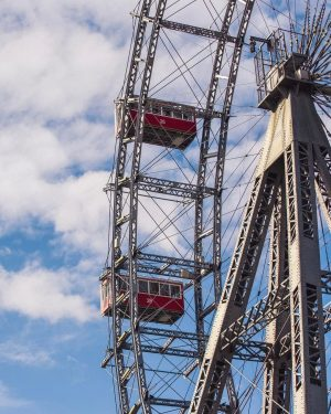 430 tons of steel were used to build our iconic Wiener Riesenrad 🎡⁣ ...