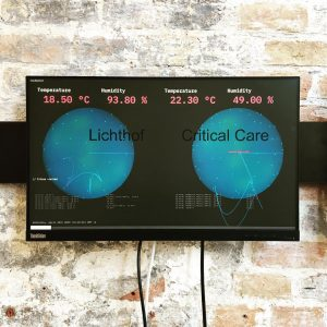 Vous Étes Ici! Digital installation mapping climate conditions in built environment // Developed ...