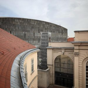 MUMOK - MUSEUM OF MODERN ART VIENNA — A dark, closed block made ...