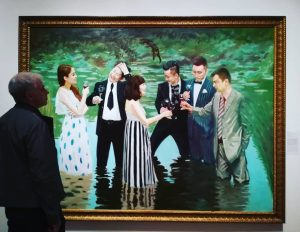 Zhao Bandi, 'China Lake', based on Claude Monet's much quoted painting 'The Luncheon ...