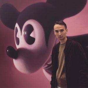 🎨 @gottfriedhelnwein | Pink Mouse 2 | 2016 #vienna #albertinamuseum #mickeymouse