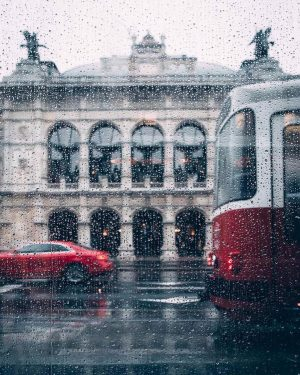 Another rainy day in Vienna. We are in love with these red trams that take you through...