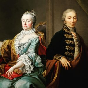 On our tour of the @akademiegalerievienna we discovered these wonderful portraits of Empress Maria Theresia and Joseph...