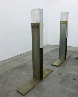 #tonischmale 🤜🤛#concrete #metal #nexus #contemporarysculpture Christine Koenig Galerie