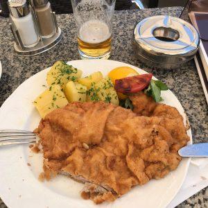 Crushing Viennese Wiener Schnitzel