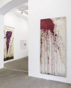 Hermann Nitsch Julian Schnabel, Exhibition view, Galerie Elisabeth & Klaus Thoman, Vienna, 2019⁣⠀ ...
