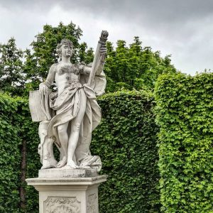Statue of a hairy chested lady. #travelphotography #tourism #statue #vienna #austria #museum #garden ...