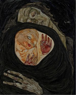 Tote Mutter by Egon Schiele 1910, from the collection of the Leopold Museum, ...