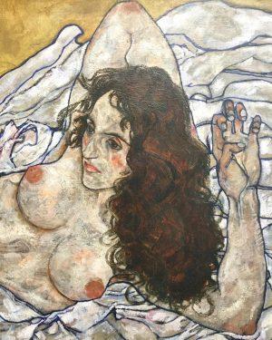 Schiele. . . . Egon Schiele 'Reclining Woman' (detail) @leopold_museum #Wien #Vienna #Austria ...
