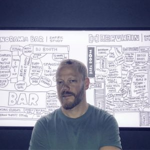 My #panoramabar & #berghain #scribbles / empiric #maps ended up on display at ...