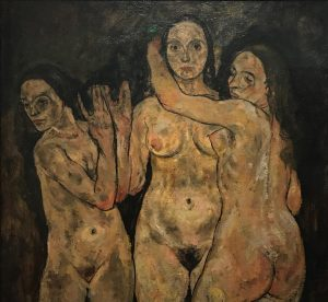 Three Standing Women by Egon Schiele 1918 @leopold_museum #egonshiele