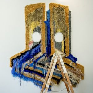 At the intersection of abstraction and objectivity, Caroline Achaintre works with materials like ...