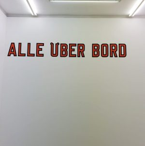 Do Not Jump! All Overboard! #lawrenceweiner at #galeriehubertwinter always such a pleasure #minimal ...