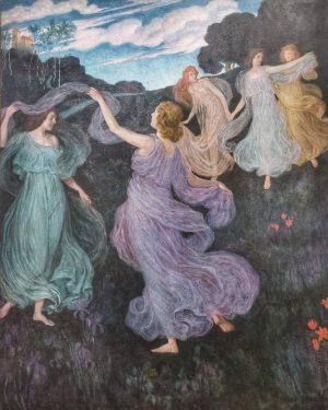 #elfenreigen #dancefortheelves #josephmariaauchentaller #1899 #secession #painting #leopoldmuseum #wien #vienna #austria #österreich