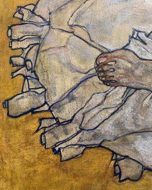 Donna distesa - Egon Schiele (1917)