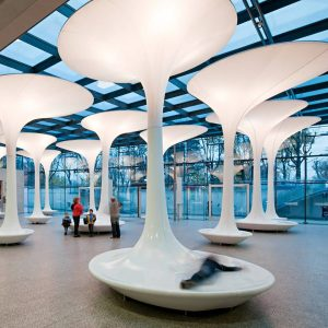 get funky querkraft´s TMW funky interior for the technical museum foyer . . ...