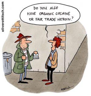 Cartoon von Oliver Ottitsch aus unserer aktuellen Ausstellung
