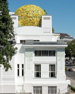 This shiny view from the renovated Secession buildings' side we don't want to hide from you. Photo:...