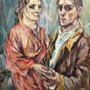 Visiting the Oscar Kokoschka exhibition at the Leopold Museum. Became rather fascinated by his relationship with Alma...