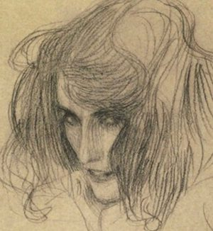 Study of Lasciviousness by Klimt #thebeethovenfrieze #Klimt #symbolistpainter #viennasecession #klimtsketches #draughtsman #artnouveau #naturalist ...