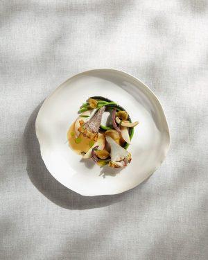 Marchfeld artichokes with poppy seed, peach & russula #inspiredbynature #foodofaustria #thetasteofthewoods #mushrooms #heinzreitbauer ...