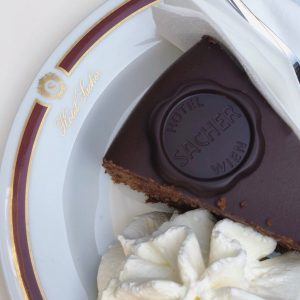 Sacher chocolate cake @ Vienna #sacher #sachercake