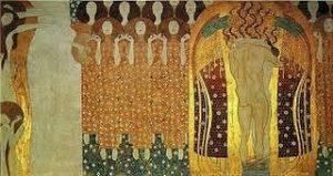 Friso de Beethoven. (fragmento. Gustavo Klimt. Pintura mural. Secesión, Viena. 1902. No puedo ...