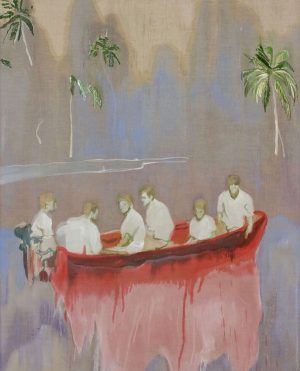Figures in Red Boat by Peter Doig #peterdoig